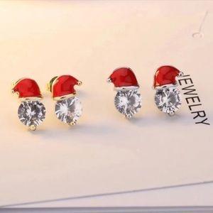 Santa Hat Stud Earrings